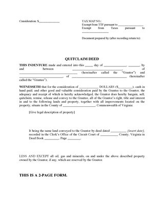 Virginia Real Estate Forms | Legal Forms And Business Templates
