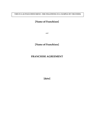 Picture of Franchise Agreement for Pizza Restaurant | Canada