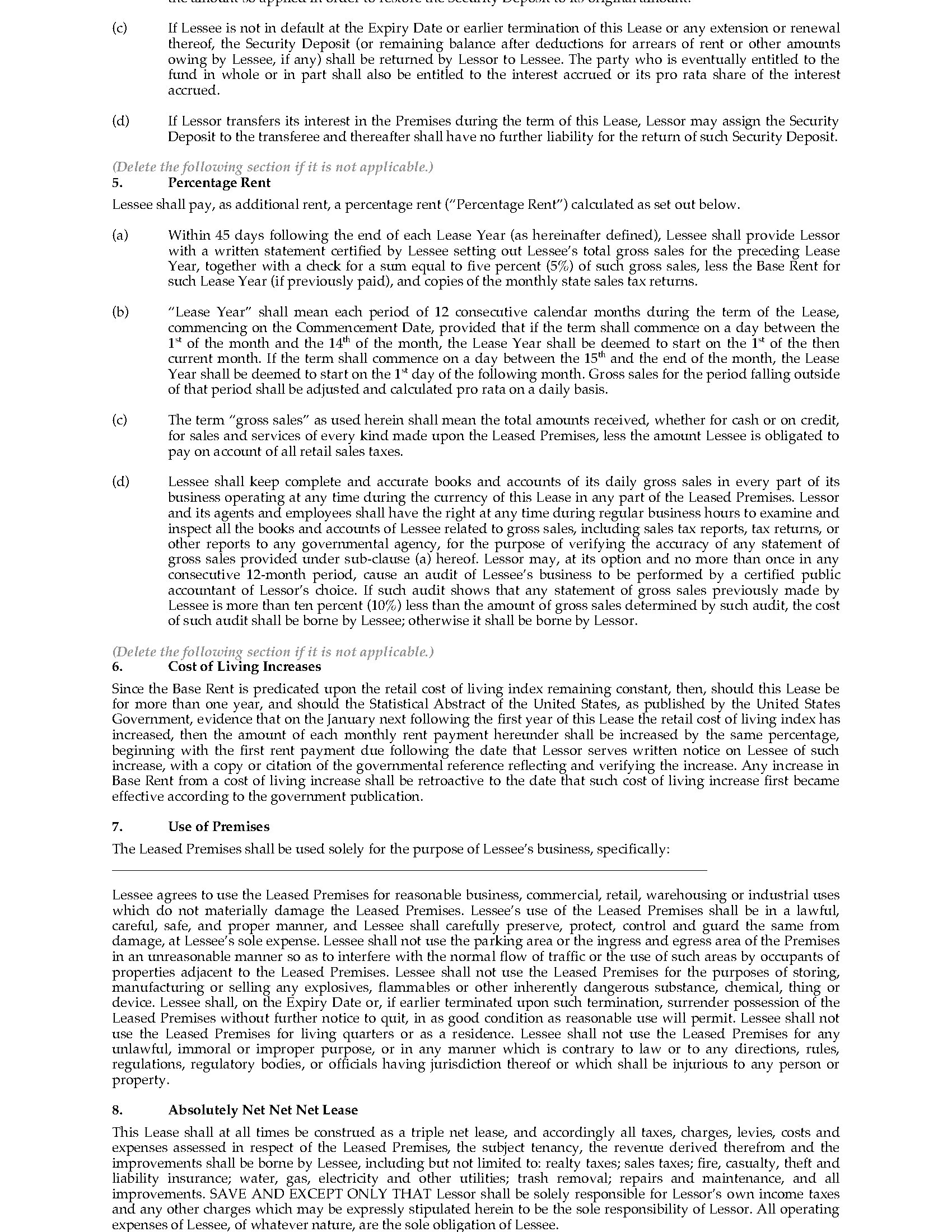 New Hampshire Commercial Triple Net Lease Agreement – Commercial Construction Contract Template