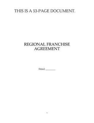 Picture of USA Regional Franchise Agreement