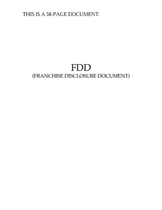 Picture of Franchise Disclosure Document | USA