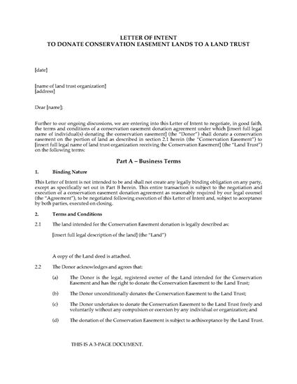Intent To Negotiate Letter