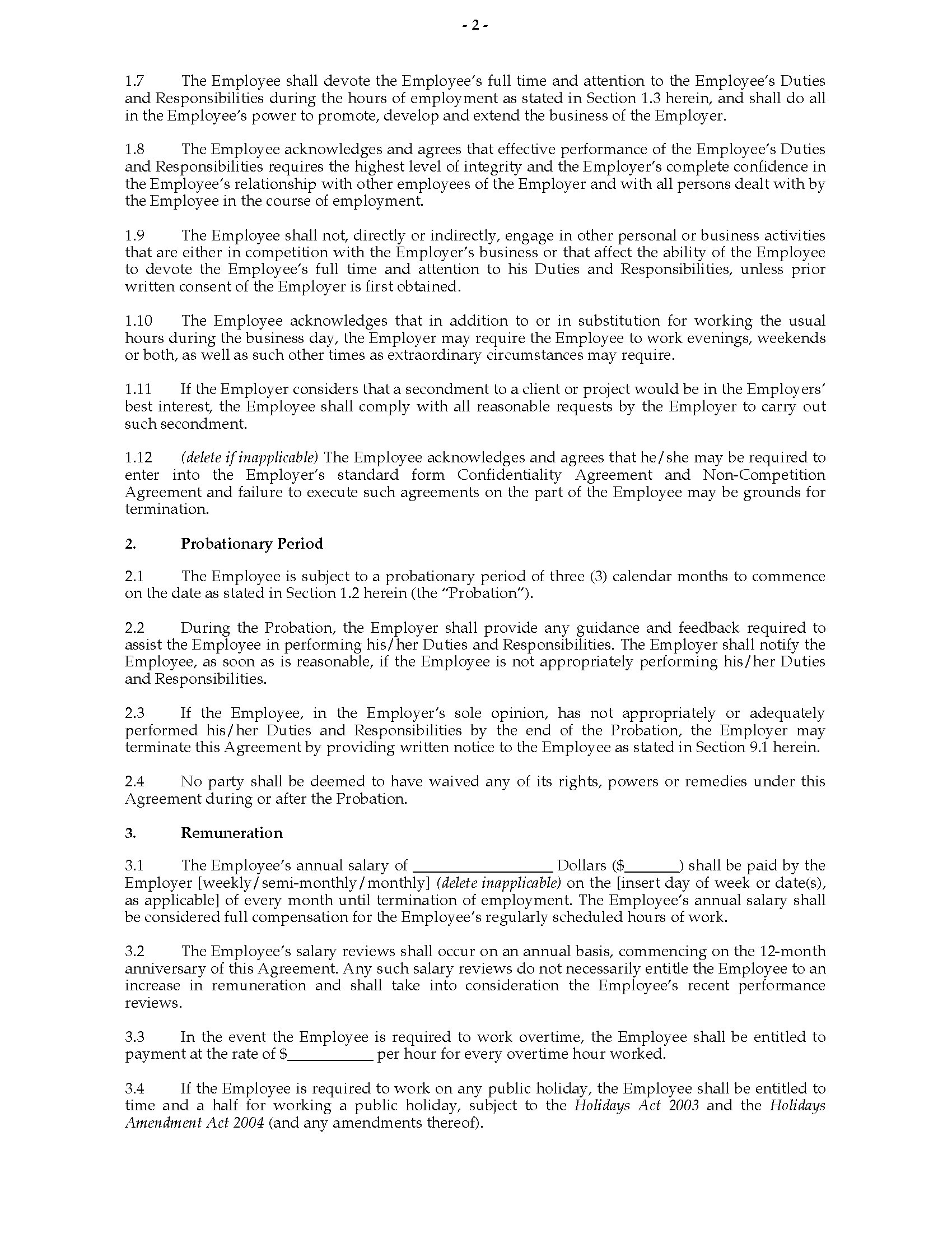 ... Picture Of Individual Employment Agreement (New Zealand) ...