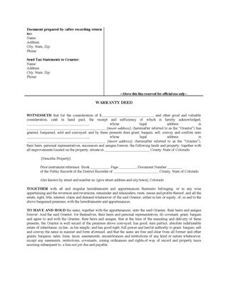 Colorado Real Estate Forms | Legal Forms And Business Templates