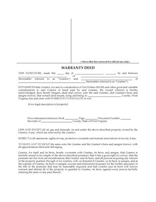 West Virginia Real Estate Forms | Legal Forms And Business