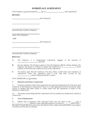 Picture of Workplace Agreement (Australia)