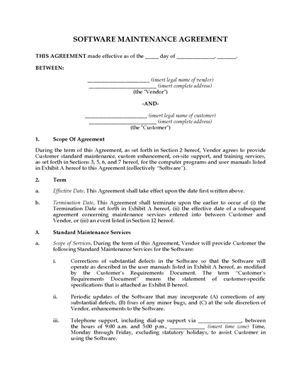 Picture of Software Maintenance Agreement | Canada