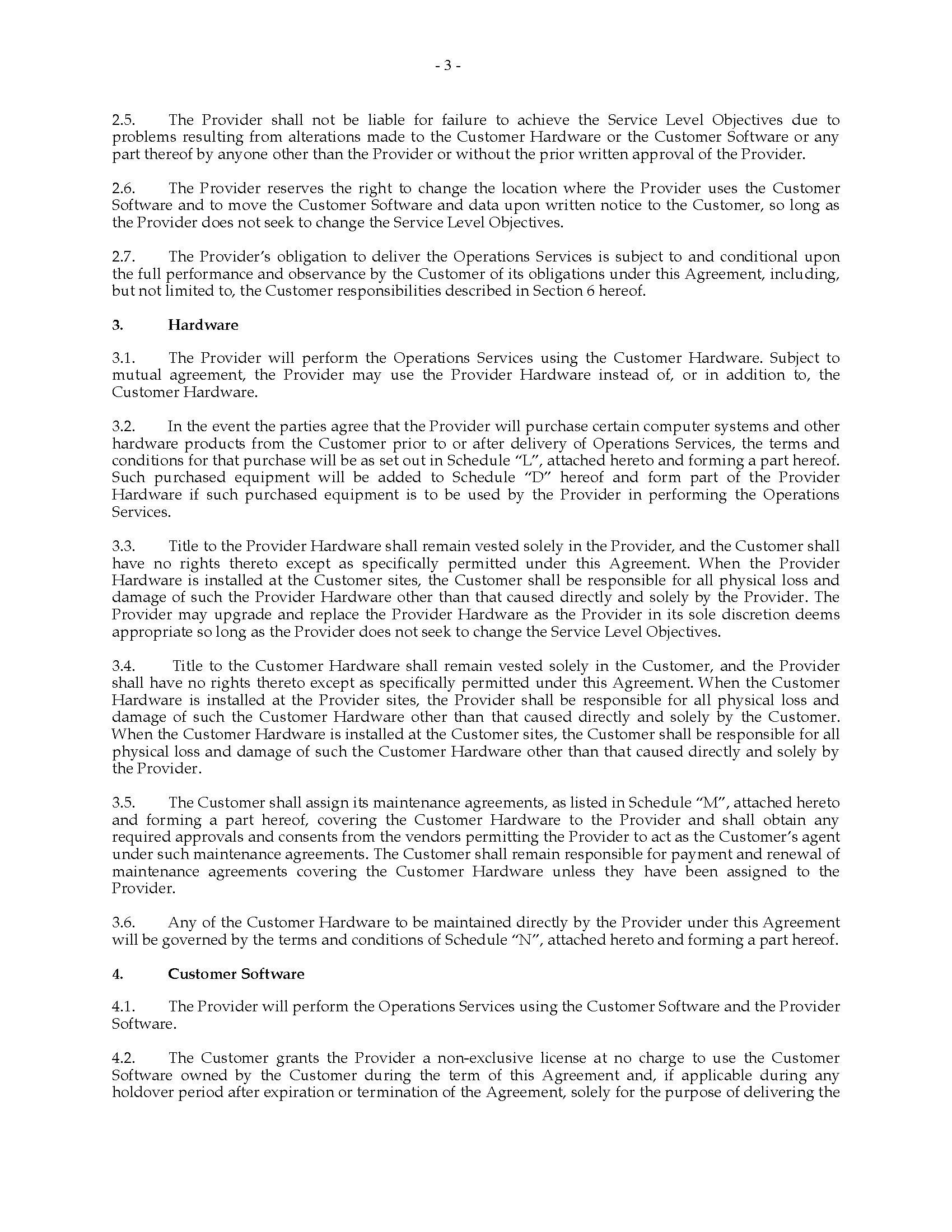 Canada it operations management services agreement legal forms and picture of canada it operations management services agreement platinumwayz