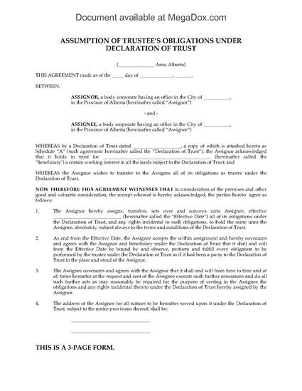 Picture of Alberta Assumption of Trustee Obligations (Oil & Gas)