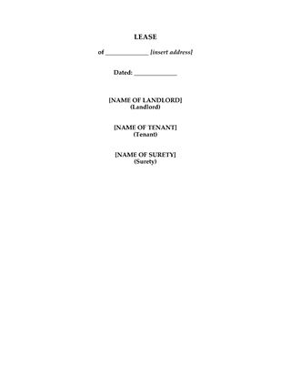 Picture of UK Deed of Commercial Lease for Office Space