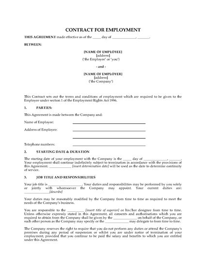 Picture of Employment Contract | UK