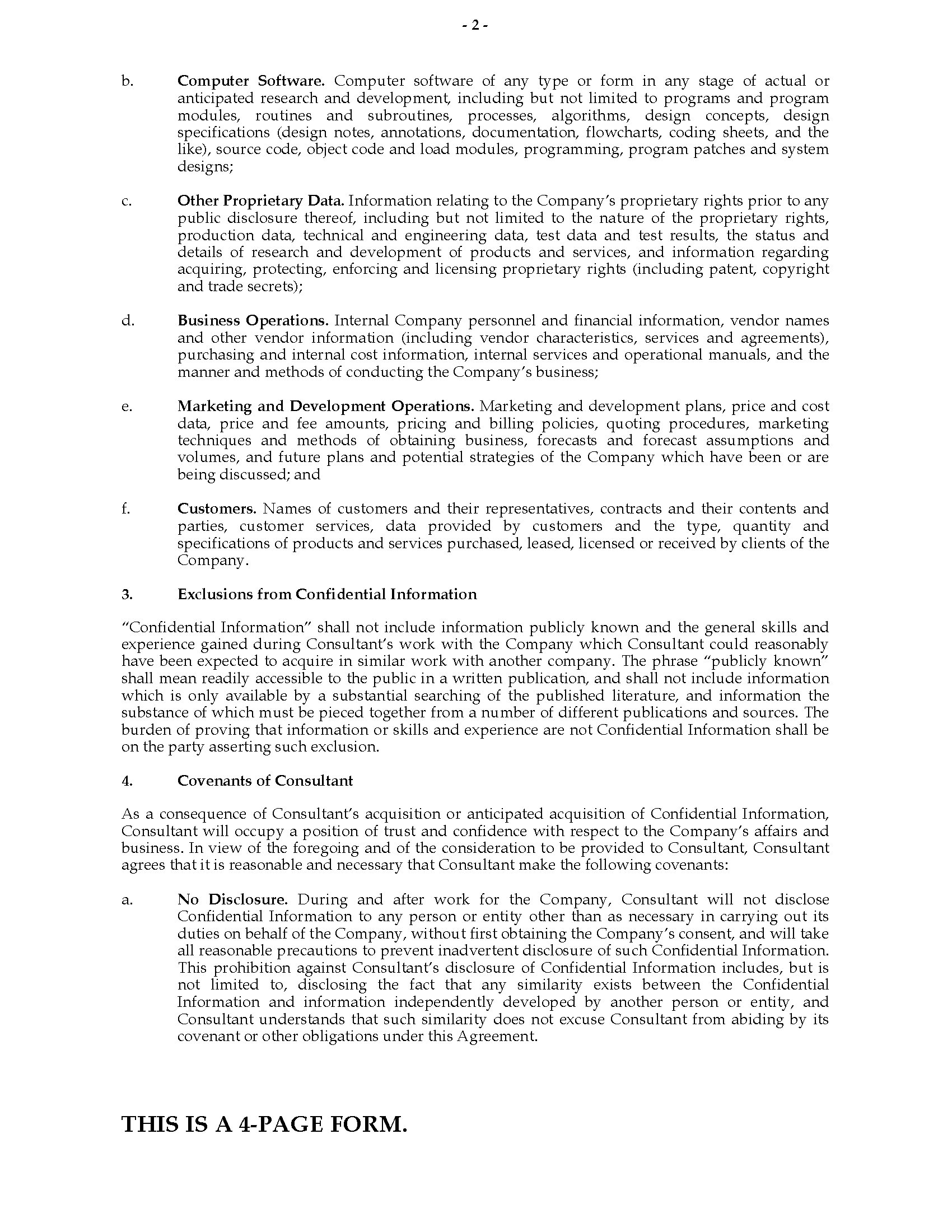 Business Agreements Sample Vendor Confidentiality Agreement Essay 0006497 Confidentiality  Agreement For Consultant Business Agreements Sample Vendor