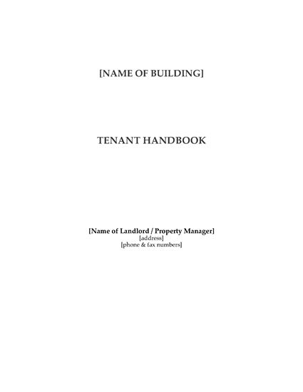 Picture of Tenant Manual for Commercial Highrise Building
