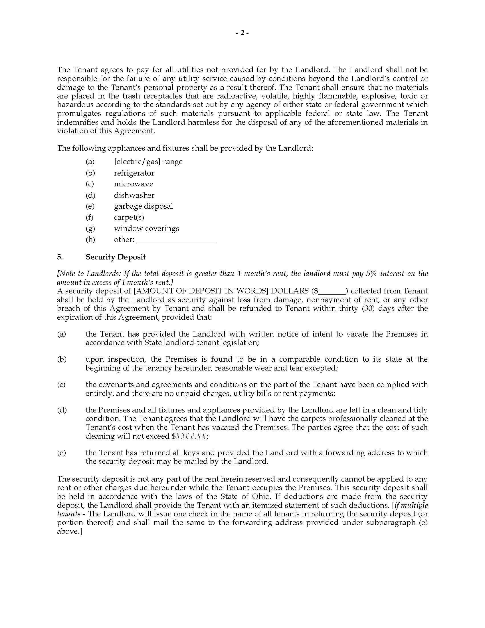 Residential Premises Lease Agreement Ichwobbledich