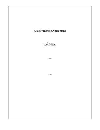 Picture of USA Unit Franchise Agreement