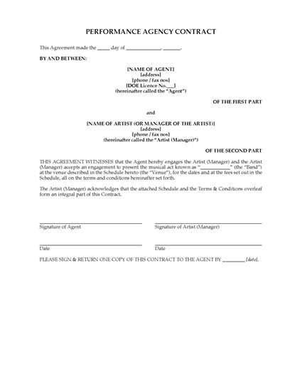 Picture of UK Performance Agency Contract