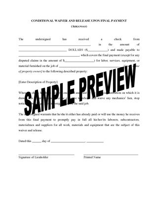 Arkansas Lien Forms | Legal Forms And Business Templates | Megadox.Com