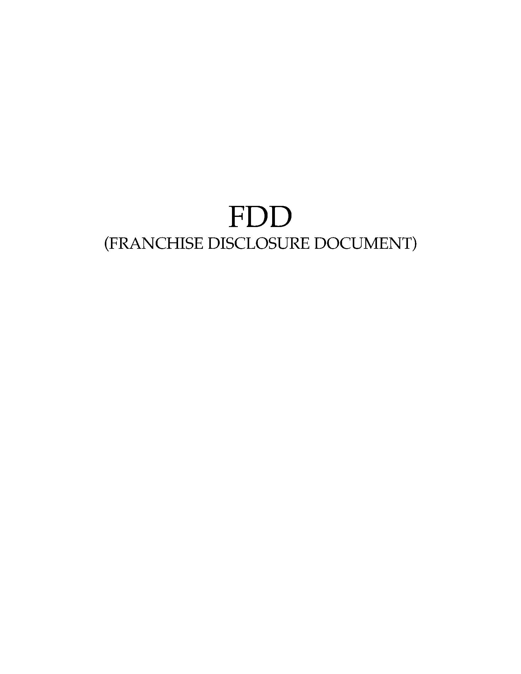 usa franchise disclosure document for regional franchisors. Black Bedroom Furniture Sets. Home Design Ideas