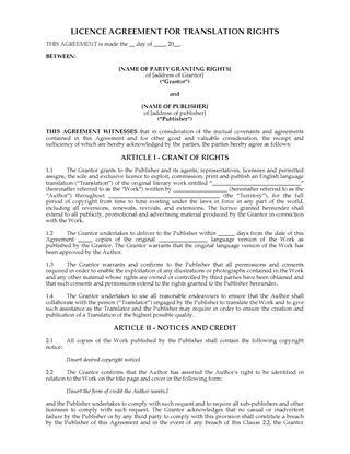 Picture of UK Translation Rights Licence