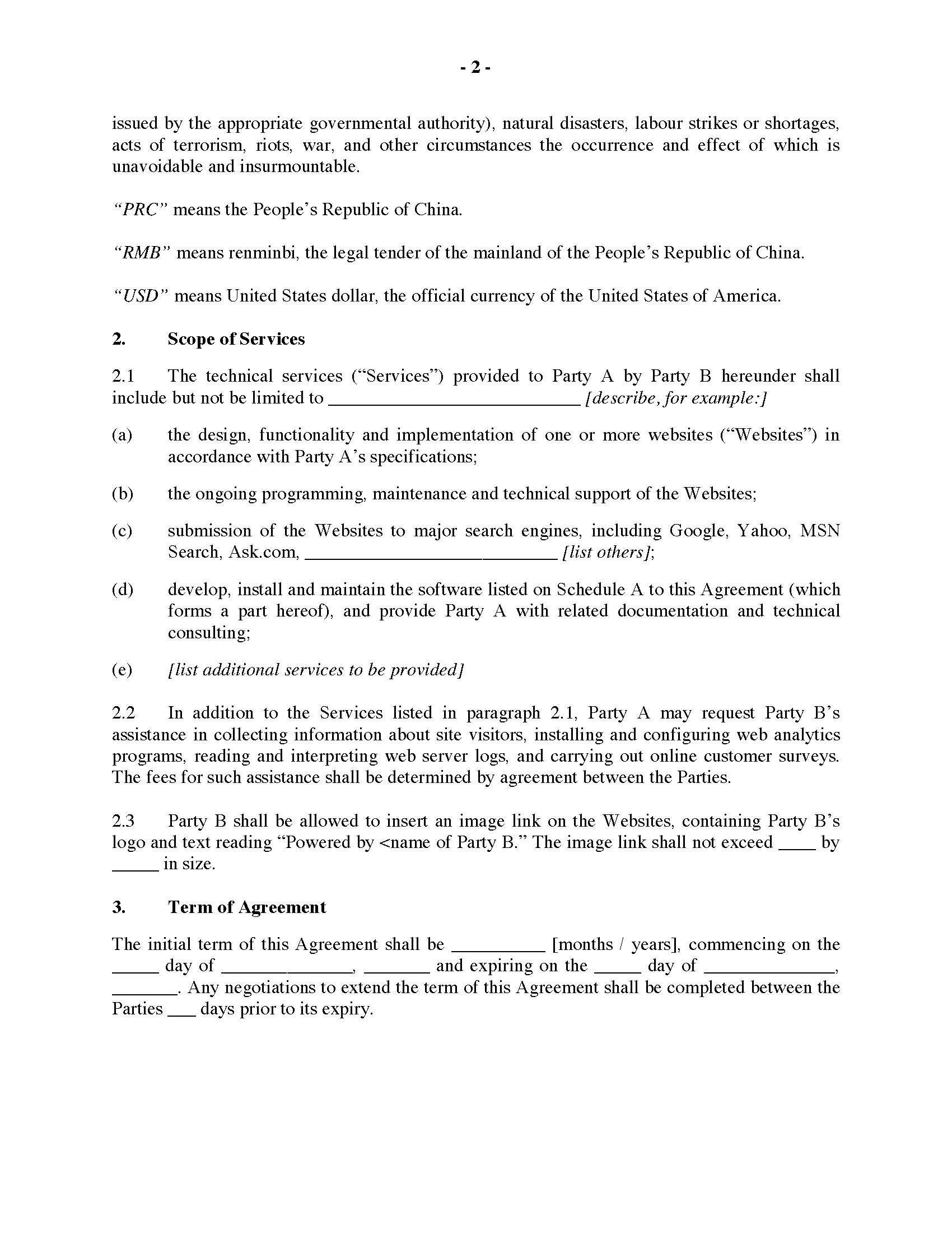 technical support agreement template - services agreement template athlete sponsorship proposal