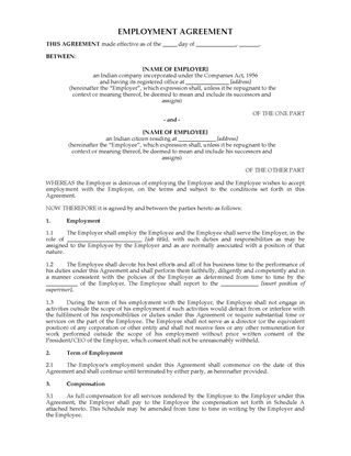 Picture of Employment Agreement | India