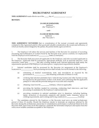 Picture of International Recruitment Agreement
