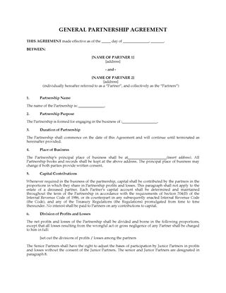 Picture of USA Partnership Agreement with Income to Continue After Death