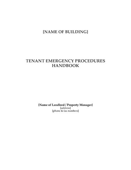 Picture of Commercial Tenant Emergency Procedures Manual