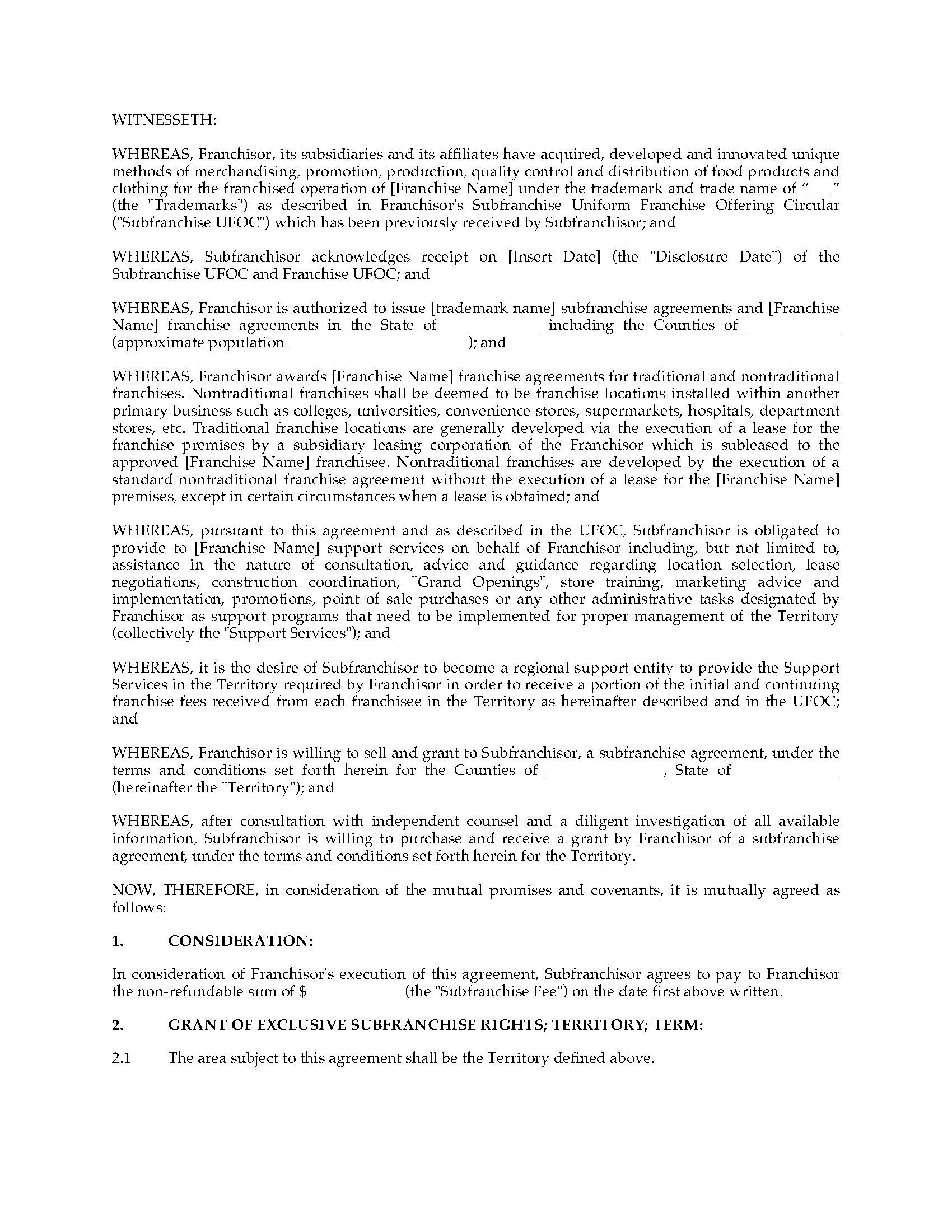 Usa sub franchise agreement for restaurant franchises legal forms picture of usa sub franchise agreement for restaurant franchises platinumwayz