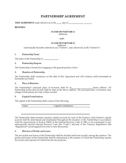Picture of USA Lawyer Partnership Agreement