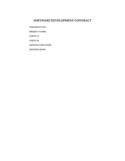 Picture of Software Development Contract | China