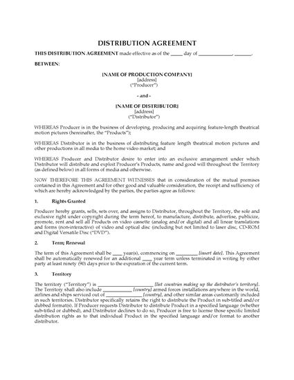 Picture of Home Video Distribution Agreement