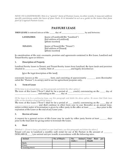 Picture of USA Pasture Lease