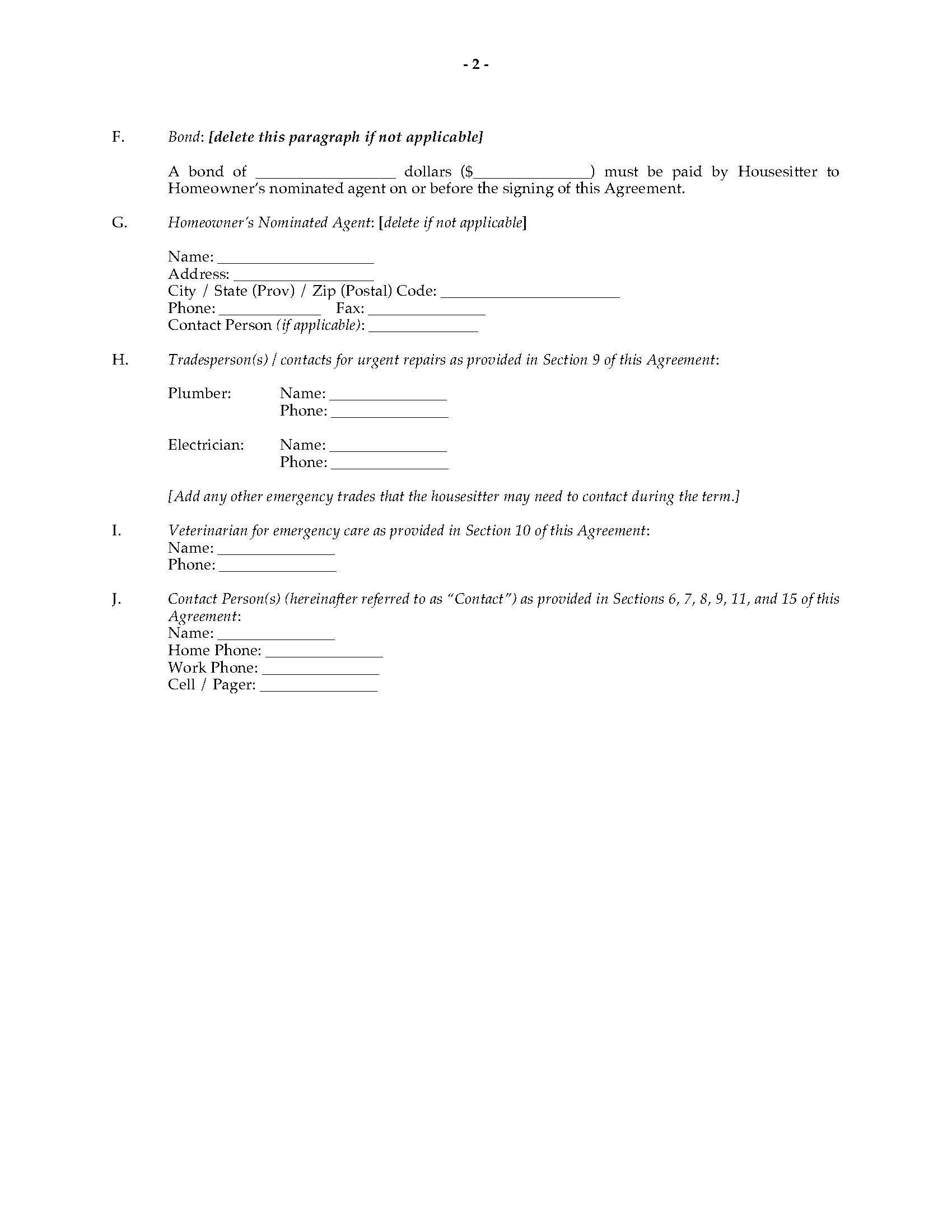 House Sitting Agreement Template Legal Forms And Business Templates Megadox Com