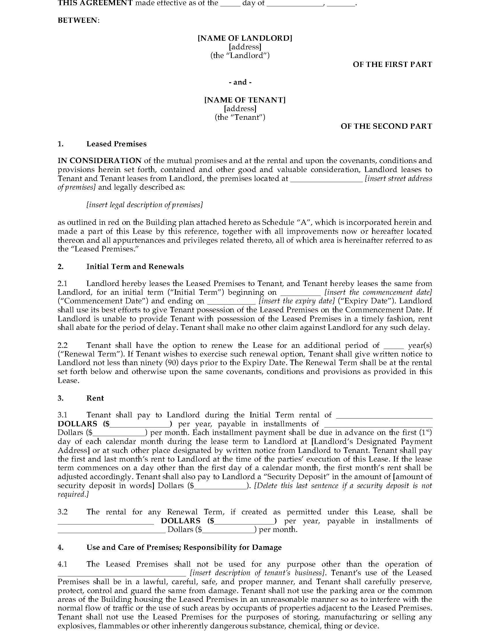 Alberta Landlord Tenant Act Commercial Property Property Walls