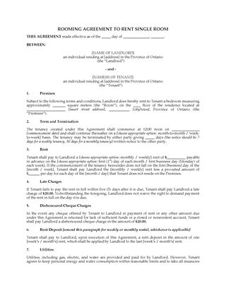 Ontario Residential Lease And Tenancy Forms | Legal Forms And