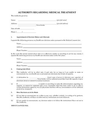 Picture of Nova Scotia Personal Directive