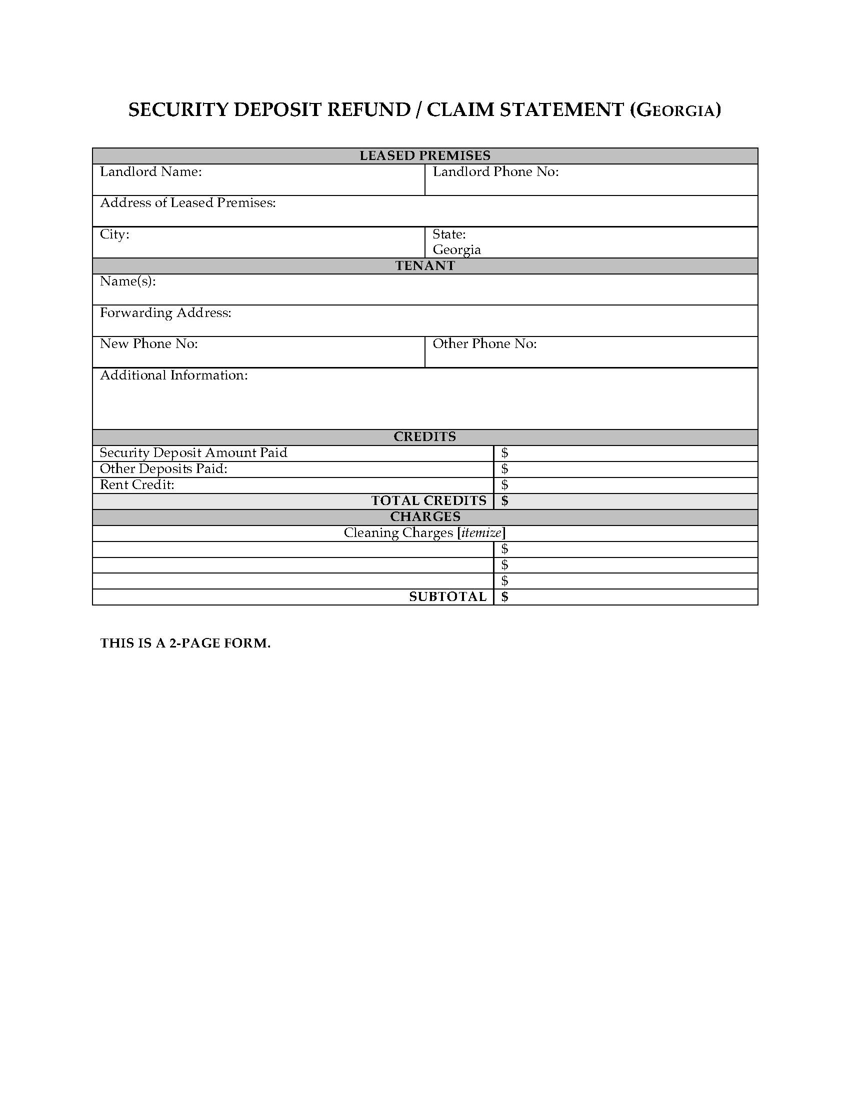 Security Deposit Refund Letter Template from www.megadox.com