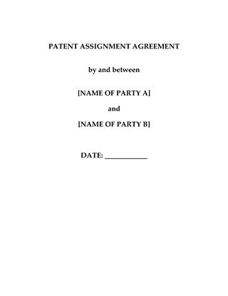 Picture of Patent Assignment Agreement | China