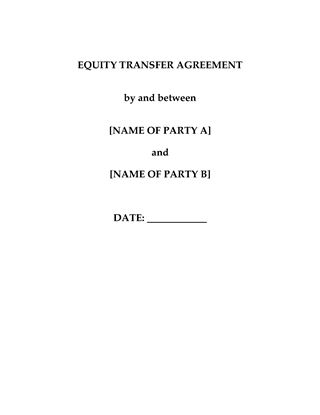 Picture of China Equity Transfer Agreement