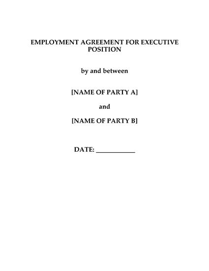 Picture of Employment Agreement for CEO | China