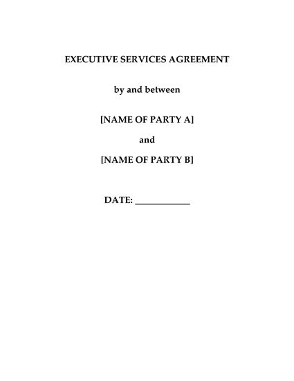 Picture of Hong Kong Executive Services Agreement