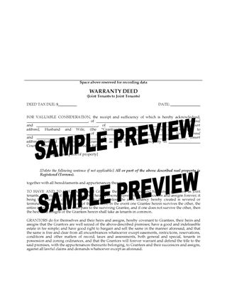 Picture of Minnesota Warranty Deed (Joint Tenants to Joint Tenants)