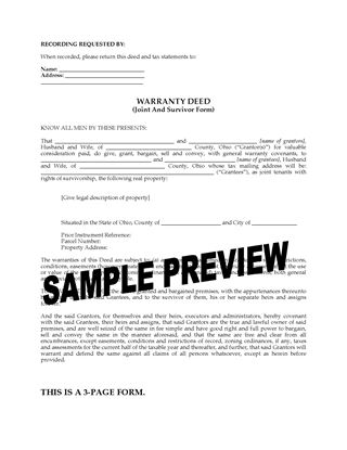 Ohio Real Estate Forms | Legal Forms And Business Templates