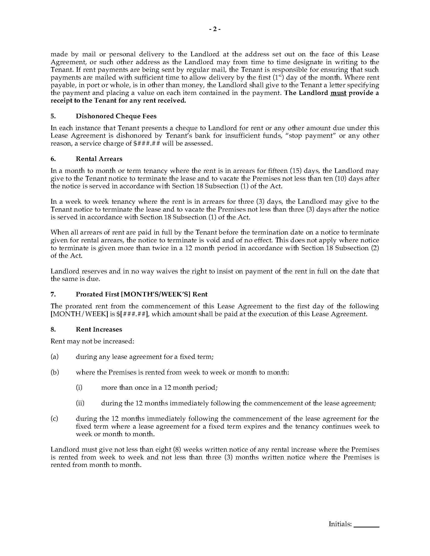 0009591_preview Pennsylvania Star Mobile Home Manufactured Site Lease Agreement on