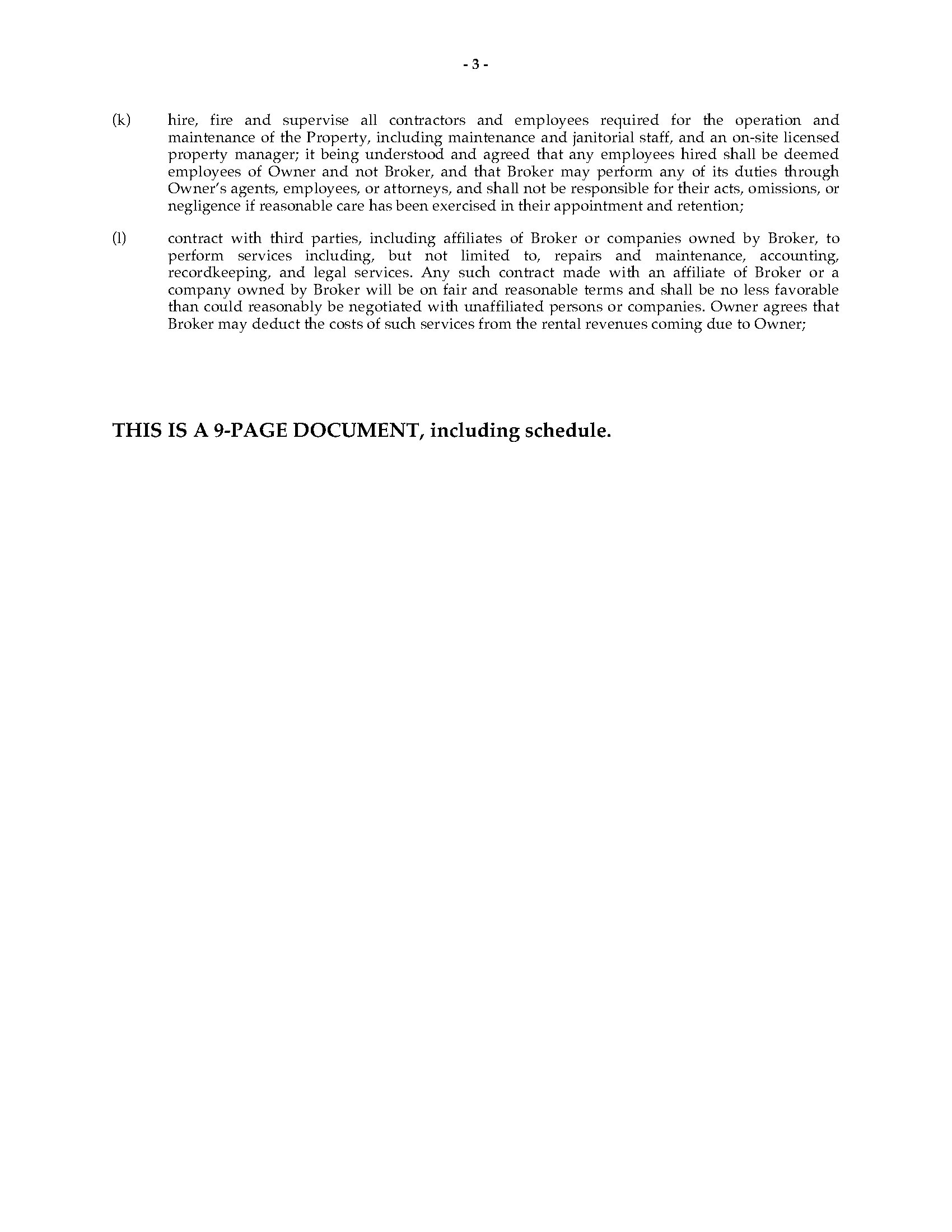 ... Picture Of Georgia Commercial Property Leasing And Management Agreement