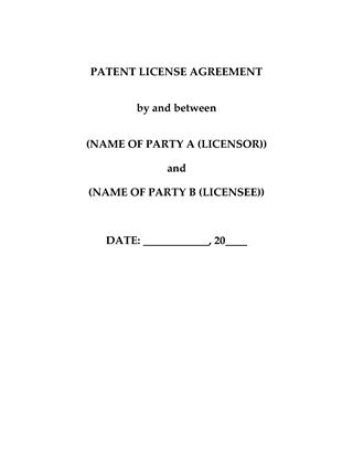 Picture of Patent License Agreement (China)