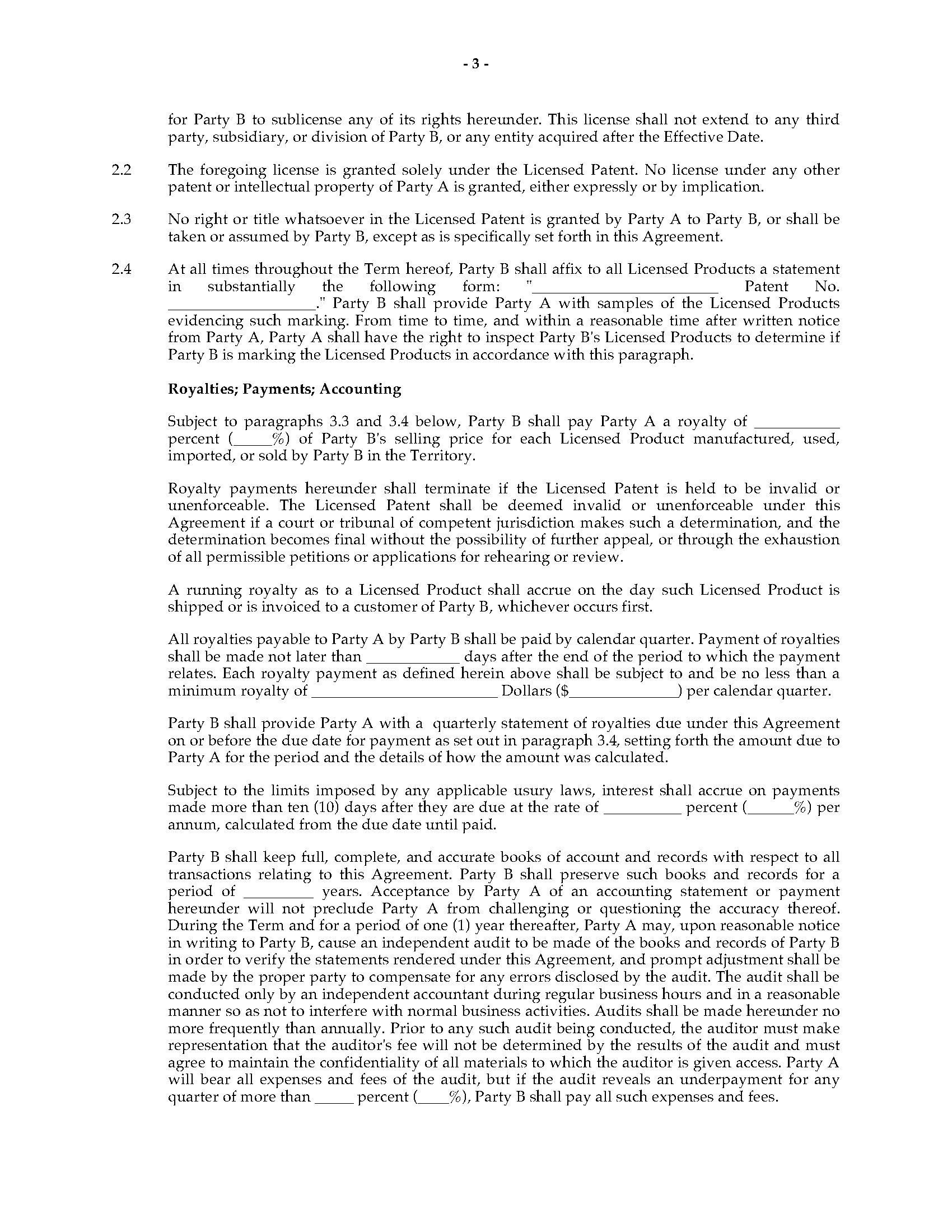 China Patent License Agreement Form Legal Forms And Business