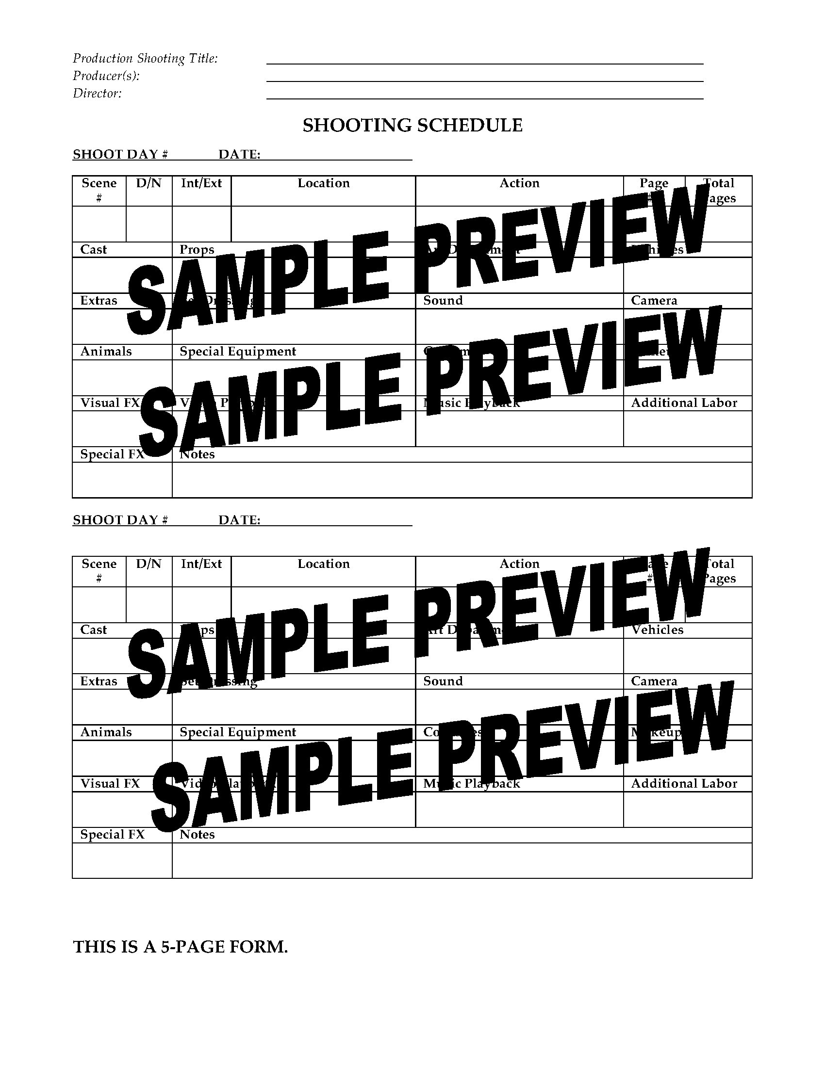 documentary production schedule template - film production shooting schedule legal forms and