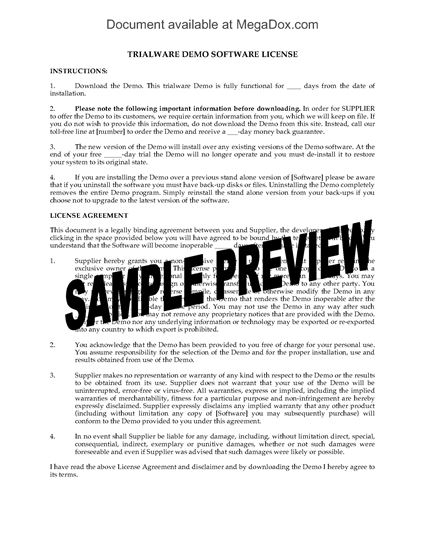 Picture of Trialware Demo Software License